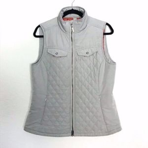 Royal Robbins | Light Gray & Orange Quilted Vest